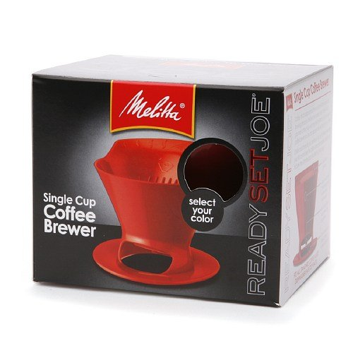 Melitta 64008 2 Pack Single Cup Coffee Brewers, Red (Coffee Cup Set Red compare prices)