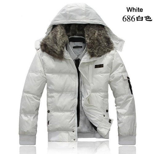Men White, Cotton-padded Clothes, Jackets, Men's Winter Coat, Male, Korean, Short Outwear L Size