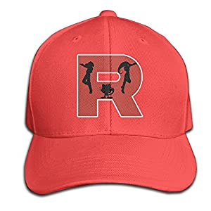 Men Team Rocket R Adjustable Baseball Caps