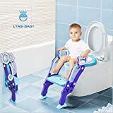 LYASI Potty Training Seat, Toilet Training Seat with Non-Slip Step Stool Ladder for Toddlers,Kids and Baby,Potty Seat with Step,Toilet Seat Chair