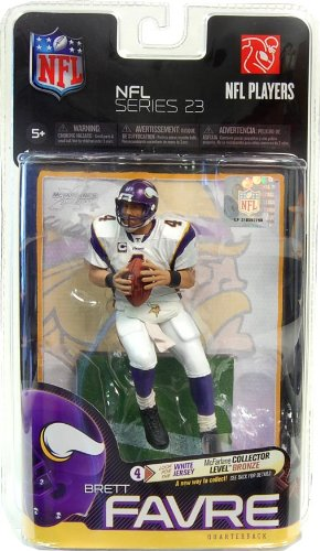 McFarlane Toys NFL Sports Picks Series 23 Action Figure Brett Favre (Minnesota Vikings) White Jersey Bronze Collector Level Chase