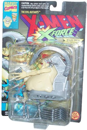 Marvel Comics Year 1994 The Evil Mutants X-Men X-Force 4-1/2 Inch Tall Action Figure - Mojo with Tail Whipping Action Plus Official Marvel Universe Trading Card - 1