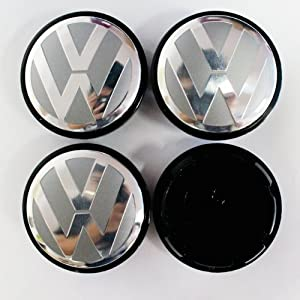 HAMMER Volkswagen 65mm Grey Wheel Center Hub Caps 4-pc Set Special Offer from HAMMER
