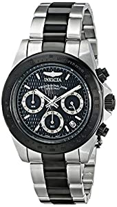 Invicta Men's 6934 Speedway Collection Chronograph Black/Silver-Tone Stainless Steel Watch