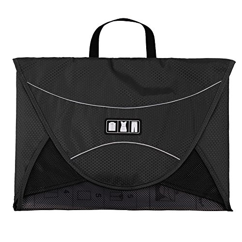 Bags-mart Porta abiti, Porta camicie da viaggio, per trasportare camicie in condizioni perfette (nero)