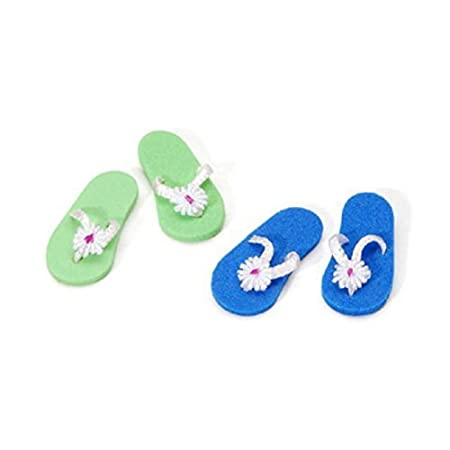 Miniature - Flip Flops - 1 inch - 2 pieces, Assorted Colors