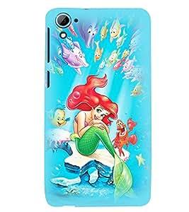 Printvisa Premium Back Cover Animated Underwater Mermaid Design For HTC Desire 826::HTC Desire 826 Dual