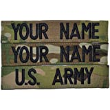 Custom Multicam / Scorpion / OCP Name Tape with Velcro US Army USAF 3pc set