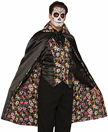 Forum Men's Day Of The Dead Cape Costume Accessory
