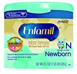 Enfamil Newborn Infant Formula, Powder in Reusable Tub, 22.2 Ounce (Packaging May Vary)