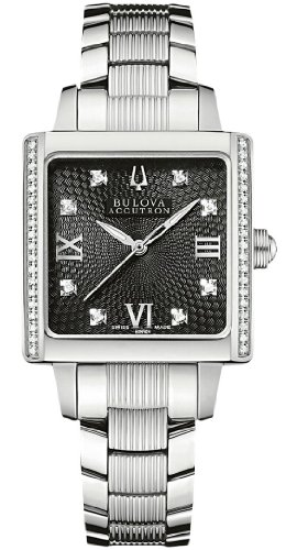 Accutron by Bulova Masella Stainless Steel & Diamond Womens Watch 63R104
