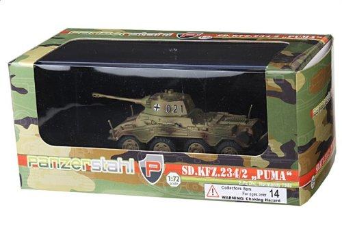 1:72 装甲車stahl ディスプレイ アーマー 88013 Bussing-NAG Sd.Kfz.234/2 プーマ ディスプレイ モデル ドイツ軍 2.PzDiv #021 ノルマンディ フラン