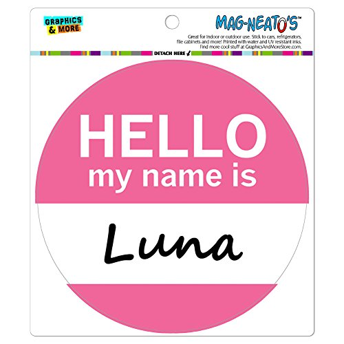 Graphics and More Luna Hello My Name Is MAG-NEATO'S(TM) Automotive Car Refrigerator Locker Vinyl Magnet (Luna Fridge compare prices)