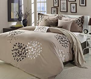 Chic Home Chic Home Cheila 8-Piece Comforter Set, Queen, Silver