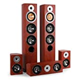 Akai 220534HR HiFi Heimkino-Lautsprecher-Set Surround Boxen 5 Teile (2 x 220W RMS plus 1 x 150W RMS plus 2 x 140W)