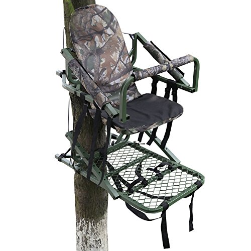 Best Price! Giantex Tree Stand Climber Climbing Hunting Deer Bow Hunt Portable W/safety Belt
