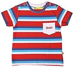 Buzzy Baby Boys' 9-12 Months Cotton T- Shirt (Red)