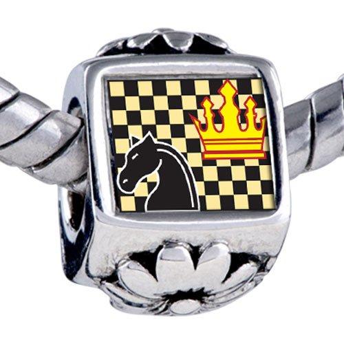 Pugster Bead Chess Game Beads Fits Pandora Bracelet