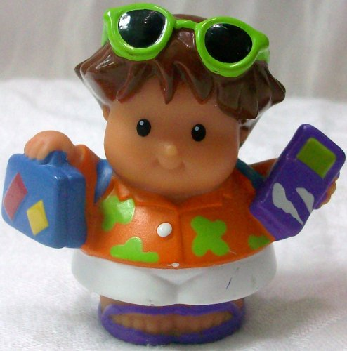 Mattel Fisher Price Little People, Tourist Boy Replacement Figure Doll Toy - 1