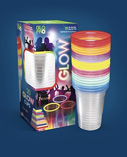 Glow Stick Party Cups, Glow Cups, Glow Pong, 7-Color Mix (16-18oz Size) (Glow Beer Pong Cups compare prices)