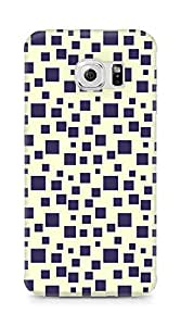 Amez designer printed 3d premium high quality back case cover for Samsung Galaxy S6 Edge (Black n Yellow Pattern1)