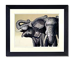 African elephant tusk pair contemporary home African elephant home decor