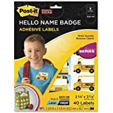 3M Post-It Super Sticky Hello Name Badge Labels (MMM3900NB)
