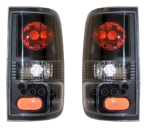 Ford F-150 04-06 Tail Light Black (Led Style) New