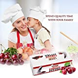 Cherry and Olive Pitter by CookArt - Holds 4 Small Cherries 4 Large Cherries Disassemble for Easy Clean
