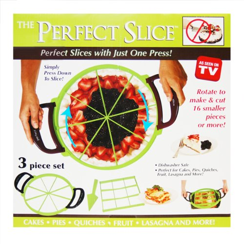 The Perfect Slice Pie Cake Slicer As seen on TV 3 Piece Set