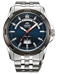 Orient #EV0R001D Men's Independence Stainless Steel Blue Dial 100M Automatic Sports Watch