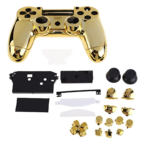 Vktech 3310924 Front Back Housing Cover for PS4 Controller - Gold Plating (Ps4 Controller Covers compare prices)