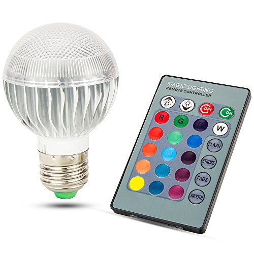 Skylarking LED RGB Bulb E27 15W Remote Control LED Light Bulb RGB 16 Color Changing 360 Degree LED Lamp Dimmable 110-240V (15 Watts) (Ceiling Fans For Boys Rooms compare prices)