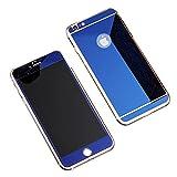 TaoTech iPhone用 ガラスフィルム 液晶保護 鏡面ミラー 3Dガラスフィルム 全面フルカバー (iPhone6 Plus / iPhone6s Plus, ブルー)