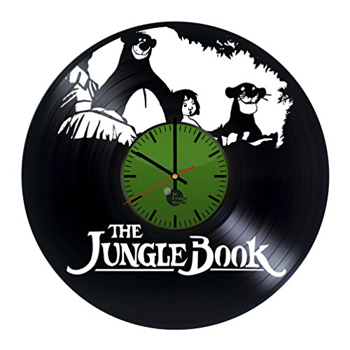 [The Jungle Book Disney Mowgli Baloo Bagheera Handmade Vinyl Record Wall Clock Vintage Unique Art] (The Jungle Book Baloo Costume)