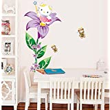 Decals Arts Free Shipping Removable Hello Kitty Wall Sticker