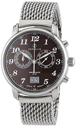 Zeppelin Men's Watch XL LZ127 Graf 7684M3 Chronograph Quartz Stainless Steel