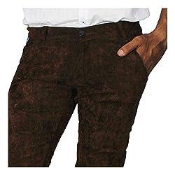 China Collection Men'sBrown Cauterize Jeans (30)