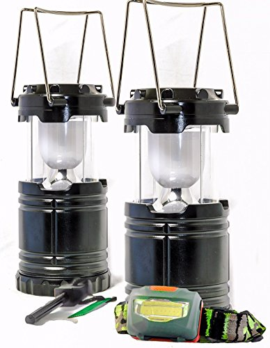 CAMPING-LANTERN-ULTIMATE-PACK-Includes-2x-Lumen-LED-Lanterns-Headlamp-Fire-Starter-Great-for-any-outdoor-activities-or-gift-Backpacking-Hiking-Fishing-Outdoor-Lighting-Camping-Equipment