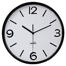 Hippih Modern Silent Quart Non-ticking Decoration Wall Clock- 10 Inches