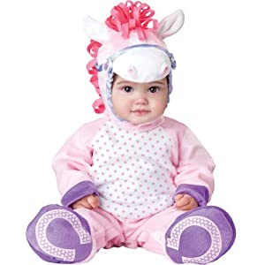 InCharacter Baby Girl's Pretty Pony, Pink/White, Small