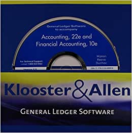 integrated accounting 7 0 klooster allen s Access integrated accounting for windows (dale a klooster) klooster, dale a klooster, warren allen, warren what are chegg study step-by-step integrated.