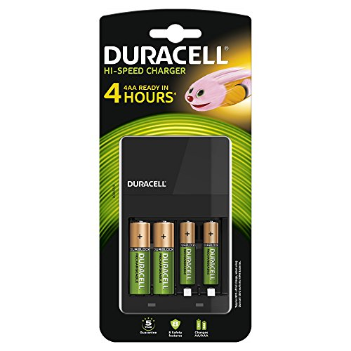 Duracell Chargeur 4 Heures Kit Démarrage + 2x AA 2x AAA