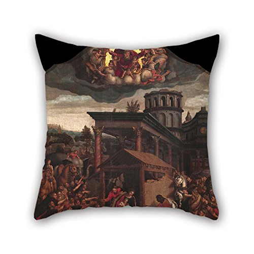 [PILLO Pillowcase Of Oil Painting Master Of Paul And Barnabas - Epiphany 20 X 20 Inches / 50 By 50 Cm,best Fit For Her,gf,wedding,christmas,valentine,dining Room Two] (Master Chief Suit For Sale)