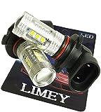 (ライミー)LIMEY NEWカラー!LED フォグ バルブ HB3 80W 美光イエロー SMDチップが黄色に発光するからフィルムカバーより奇麗な発色 プレミアム光 2800-2900K 2個入り 【保証書付き】