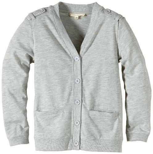 LTB Jeans Jungen Strickjacke Efanza S/T, Einfarbig, Gr. 176 (Herstellergröße: 15-16), Grau (Light Grey Mel)