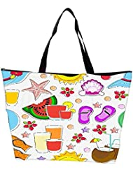 Snoogg Abstract Summer Background Waterproof Bag Made Of High Strength Nylon - B01I1KL8II