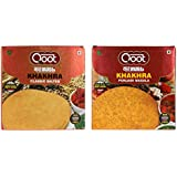 Qoot's Combo Pack Of Classic Salted And Punjabi Khakhra, 360gm (ReadyToEat, Low Fat/Calorie, Not Fried & No Preservative)
