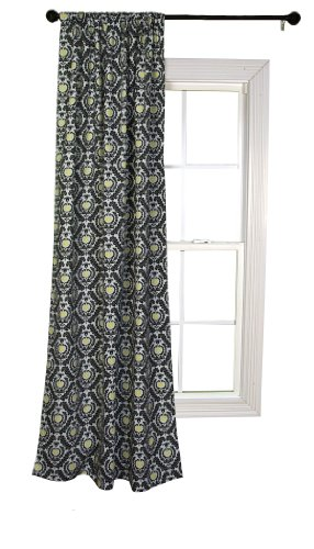 Trend Lab Waverly Rise and Shine Window Drape, Black/White