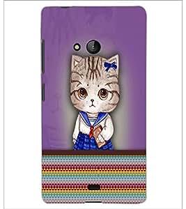 PrintDhaba Kitty D-3759 Back Case Cover for MICROSOFT LUMIA 540 (Multi-Coloured)